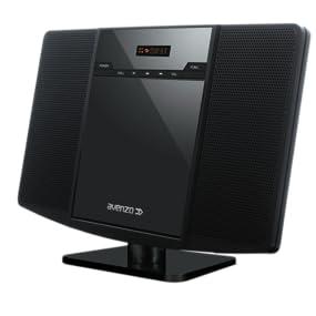 Avenzo AV6020 - Micro sistema audio CD con USB y SD/MMC, color negro