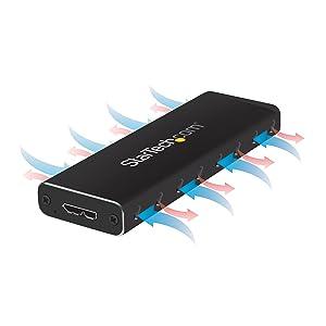 Lleve su unidad SSD M.2 USB 3.0 externa en la bolsa de su ordenador portátil