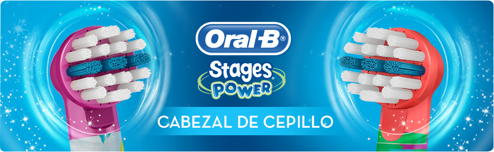 Oral-B Stages Power - Cabezales para cepillo de dientes elctrico
