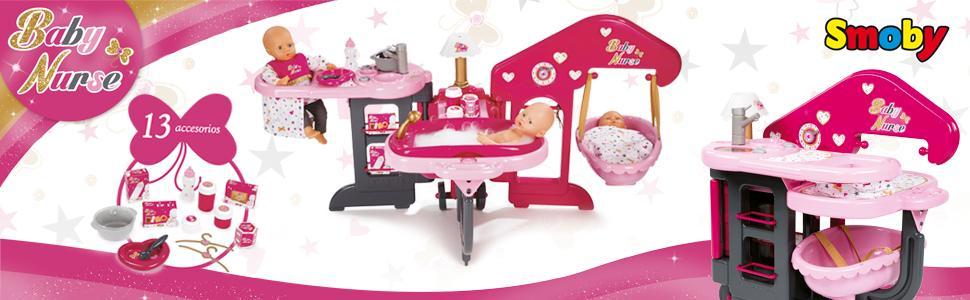 muñecas, casa de bebés, smoby, toys, juguetes, accesorios