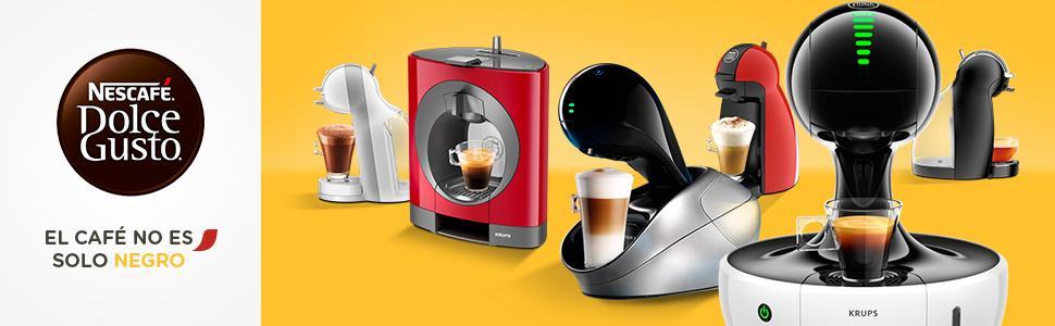 Krups Genio Rojo KP1605 dise/ño compacto Cafetera Nestl/é Dolce Gusto sistema de c/ápsulas autom/áticas 15 bares de presi/ón y motor de 1500 W color rojo con 48 c/ápsulas de Caf/é Espresso Intenso
