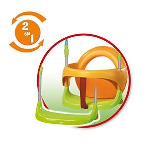 columpio; columpio metal; smoby; coñumpio smoby; juguete; exterior; asiento evolutivo; asiento; evol