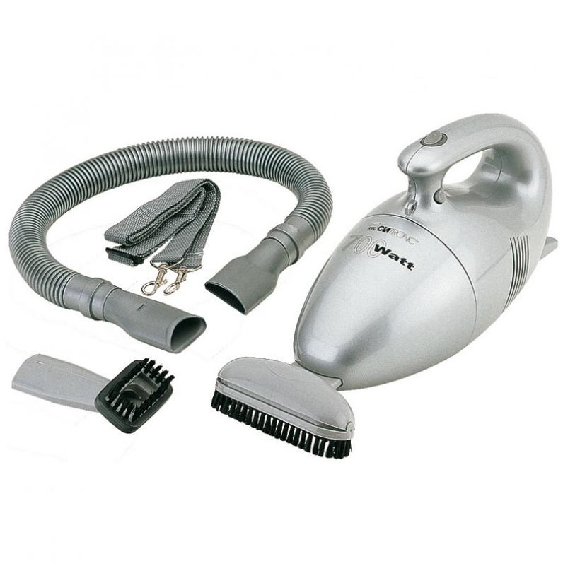 Bomann CB 947 Aspiradora de mano, tamaño compacto, 700 W, 0.3 litros, 81 Decibelios, Plata