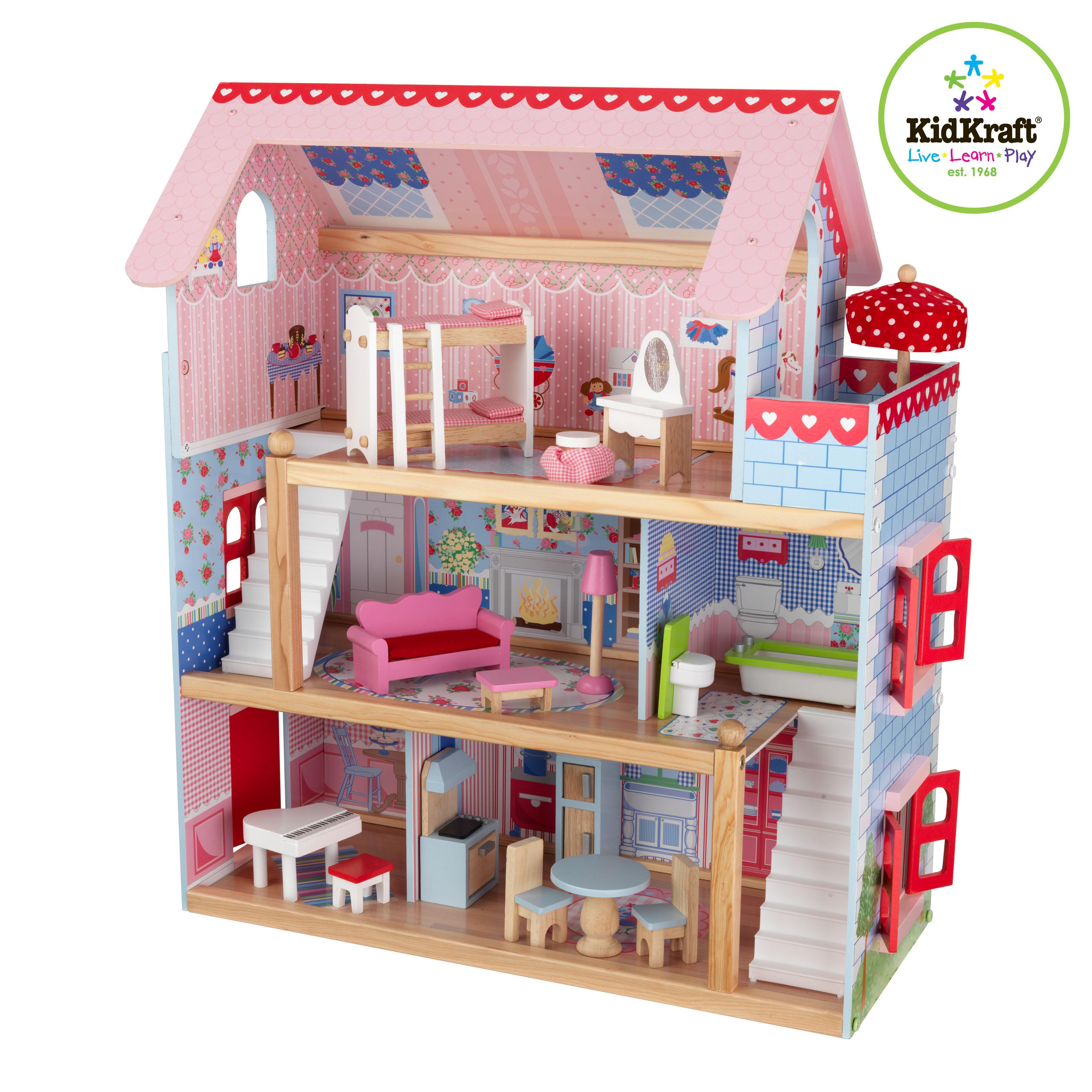 Kidkraft 65054 chelsea casa de mu ecas juguetes y juegos - Kidkraft espana ...