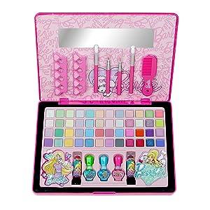 Barbie - Follow Your Dreams Beauty Laptop, maletín de maquillaje (Markwins 9601110): Amazon.es: Juguetes y juegos