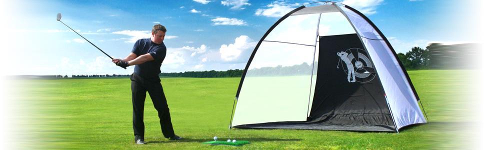 Links Choice Pro Size Golf - Lona de prácticas de Golf (dimesiones 2 x 3 m) con 24 Bolas de prácticas