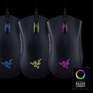 Razer DeathAdder Elite - Ratón Gaming (retroiluminación
