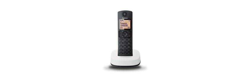 Panasonic KX-TGC310 - Teléfono fijo inalámbrico (LCD, identificador de llamadas, agenda de 50 números, bloqueo de llamada, modo ECO, reducción de ...