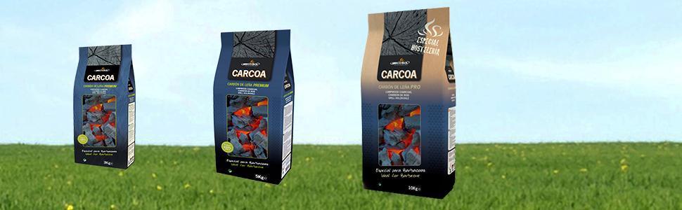 Carbón de leña CARCOA 3, 5 y 10 kg