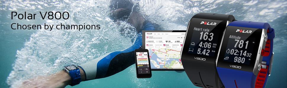 Polar V800- Pulsómetro con GPS integrado: Amazon.es: Deportes y aire ...