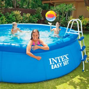 Intex 28110NP - Piscina hinchable 244 x 76 cm, 2.419 litros: Amazon.es: Jardín