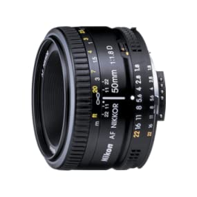 Nikon AF Nikkor 50mm - Objetivo para Nikon (distancia focal fija ...