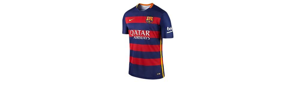 Nike 1º Equipación FC Barcelona 2015 2016 - Camiseta oficial  Amazon ... 11a8a71e412