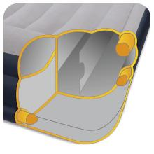 Intex Pillow Rest Raised - Cama hinchable con bomba eléctrica, 152 x 203 x 43 cm, color azul