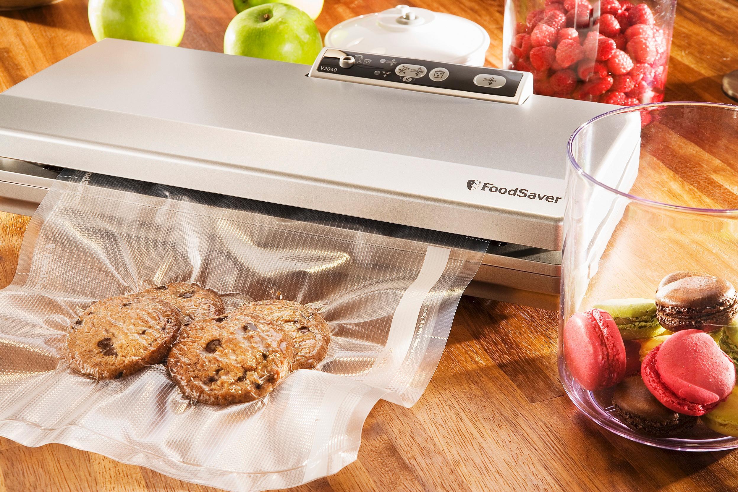 Food Saver V2040-I - Aparato para envasar al vacío (2 tipos de envasado, pantalla digital)