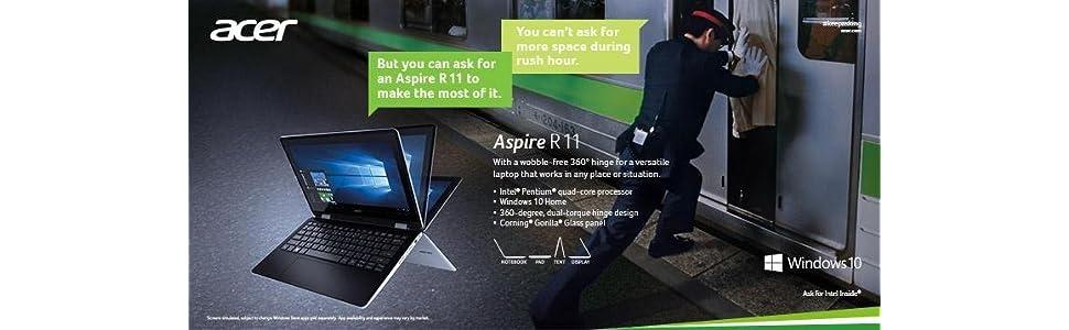 Acer Aspire R 11 R3-131T-C733 - Portátil de 11.6'' (Intel