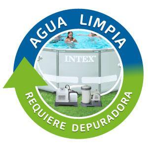 depuradora arena, Intex, clorador salino, limpieza ecológica, sistemas filtración, cloración salina
