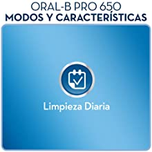 Oral-B Pro 650 CrossAction - Cepillo de dientes eléctrico, recargable
