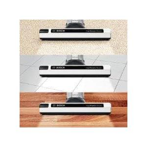 Aspirador escoba autonom/ía hasta 60 min, tecnolog/ía SensorBagless, bater/ía ion-litio de 25,2 V color blanco Bosch BBH625W60 Athlet
