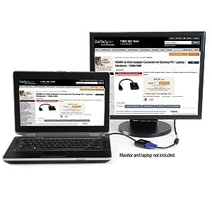 StarTech HD2VGAE - Cable Adaptador HDMI-VGA para PC/Laptop