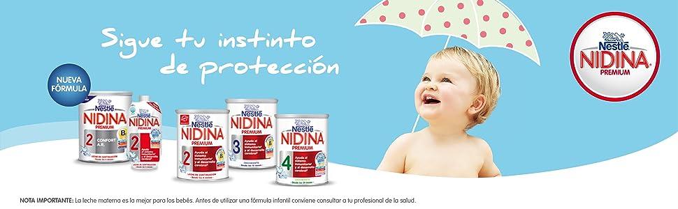 Nestle Nidina, nidina, leches para bebes, leches de formula, nestle bebe,