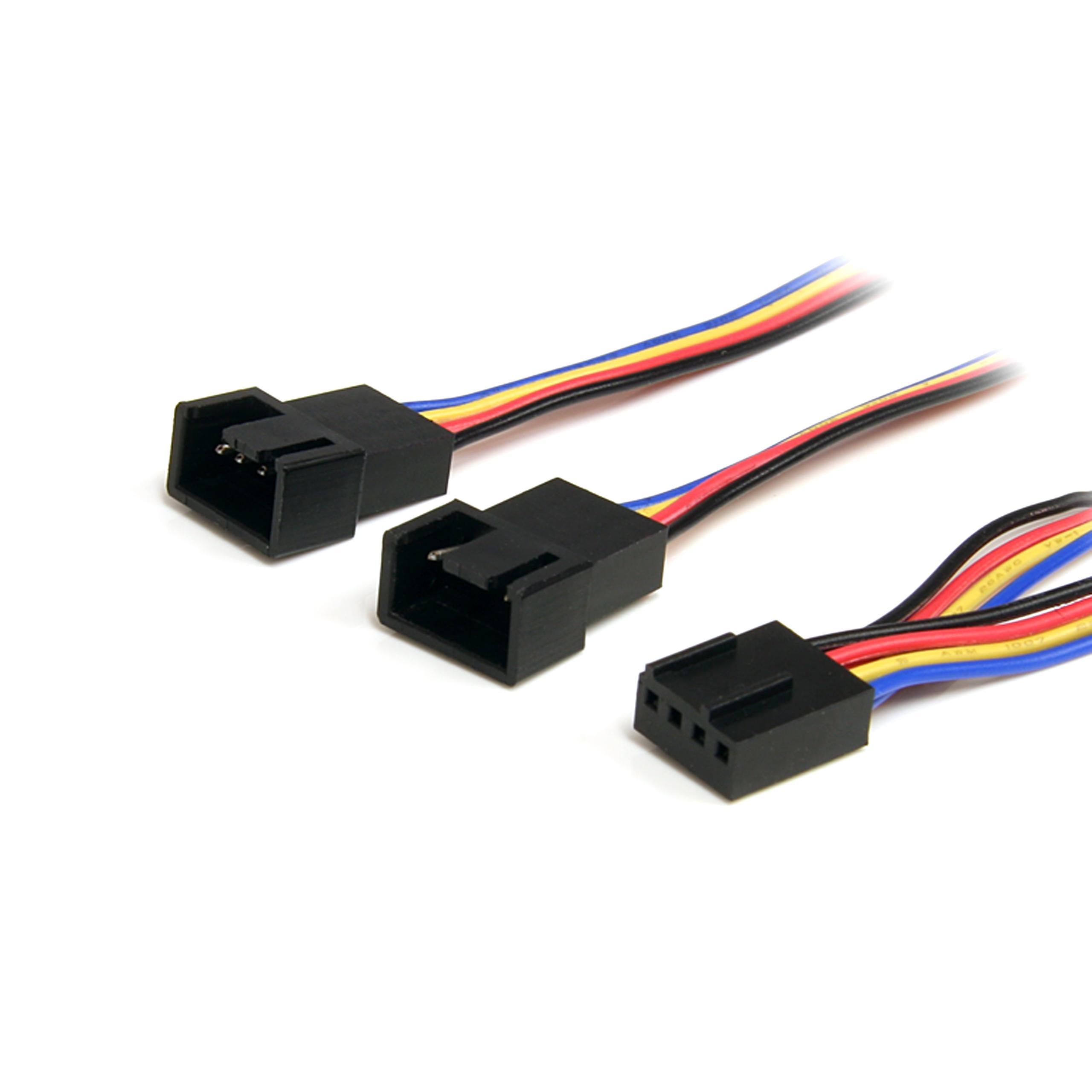 StarTech FAN4SPLIT12 - Cable divisor de 0.3 m (PWM 4 pines), alimentación ventilador fan placa base macho a hembra: Amazon.es: Informática
