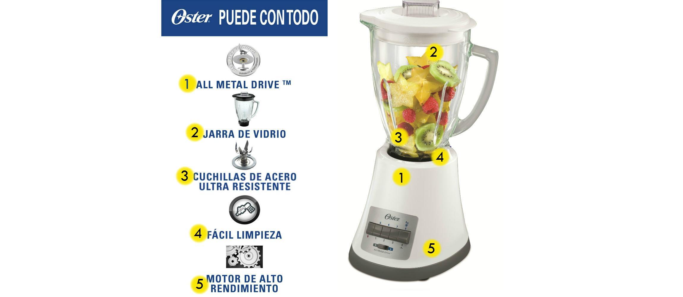 Oster Monterrey - Batidora de vaso, 450 W, 8 velocidades: Amazon ...