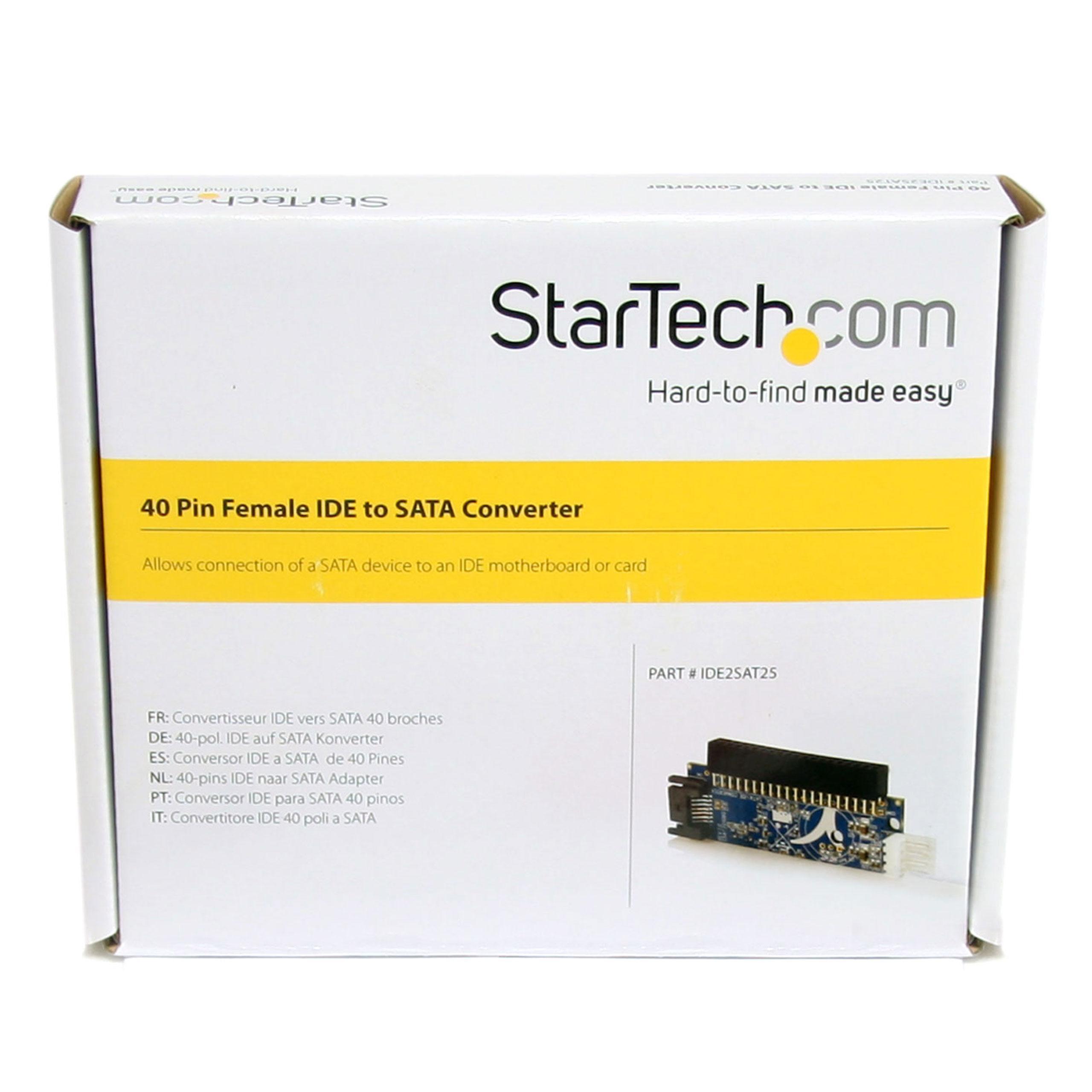 StarTech IDE2SAT25 - Adaptador SATA a IDE ATA: Amazon.es