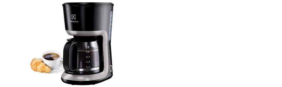 Electrolux EKF3300 Cafetera, 1100 W, 1.65 kg, Plástico, Negro