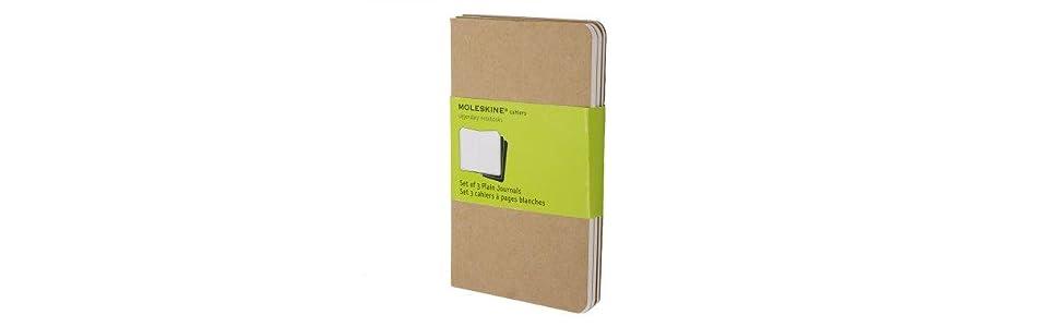 Moleskine Juego de 3 cuadernos con páginas en blanco, cubierta de ...