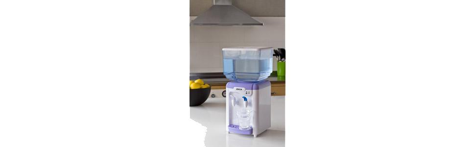 Jocca Dispensador de Agua con Depósito, Plástico, Blanco y Morado ...