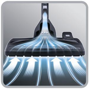 El mejor rendimiento de limpieza de su clase en suelos duros y alfombras: A