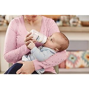 Philips Avent SCD371/00 - Set regalo Classic+ para recién nacidos, 2 biberones 125 ml, 2 biberones 260 ml, 1 escobilla, 1 chupete, color transparente