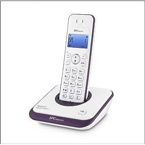 SPCtelecom 7243T - Teléfono inalámbrico, color morado: Amazon.es: Electrónica