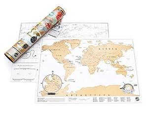 Luckies Mapamundi para rascar, edición de Viaje, tisú Laminado, cartón, Hoja Coloreada, Multicolor, 42 x 29.7 cm: Varios Autores: Amazon.es: Hogar