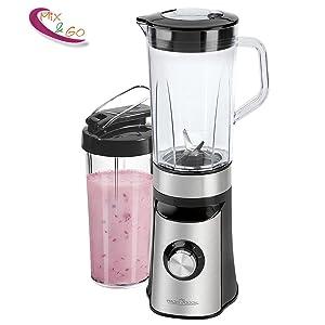 Batidora de vaso y picadora de frutas para smoothies, frappes, batidos