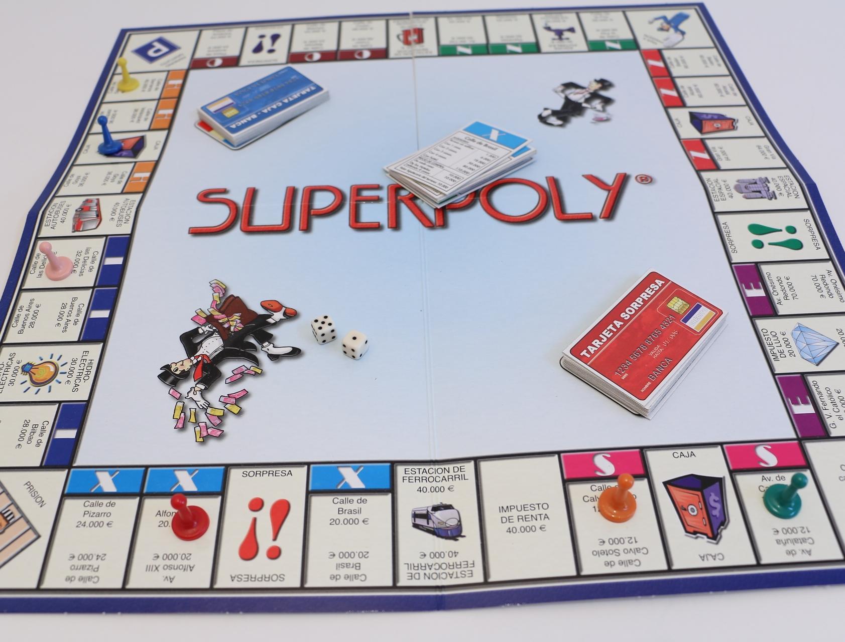 Falomir 646375 - Juego Superpoly: Amazon.es: Juguetes y juegos