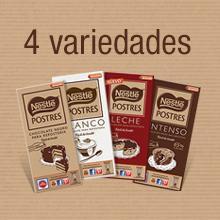 Nestle tabletas chocolate Postres, chocolate, variedades nestle postres, Cobertura de chocolate