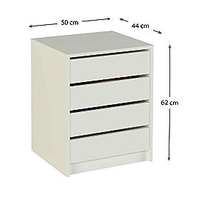 Meka block k 9461b c moda de 3 cajones 70 x 59 x 36 cm - Cajonera blanca barata ...
