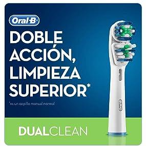 Oral-B Cabezal de Recambio Dual Clean 3 Unidades: Amazon.es: Salud ...