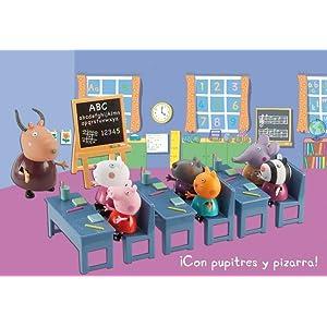 peppa pig, cole, escuela, colegio, juguetes, bandai, peppa, ¡vamos al cole!