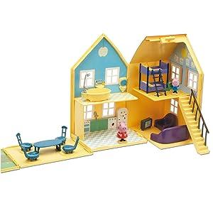 casa, peppa pig, george, la casa de peppa pig, cocina, baño, salón, desplegable, juguetes, playset