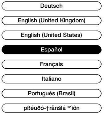 1. Establecer el idioma del dispositivo
