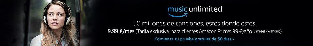Escucha más de 50 millones de canciones en cualquier lugar, con Amazon Music Unlimited
