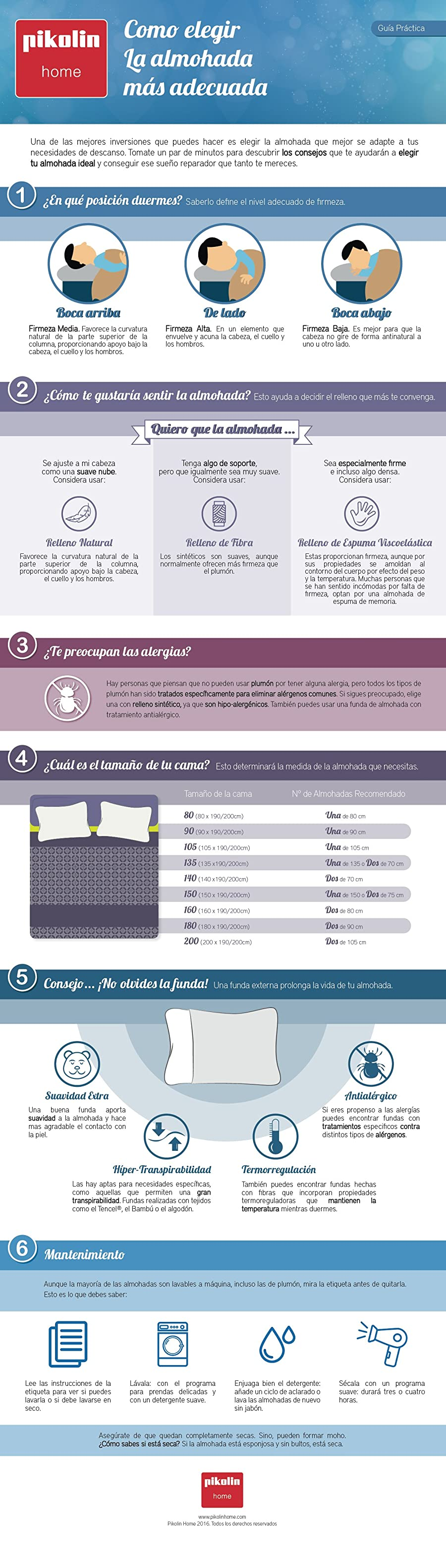 Guía de compra de almohadas