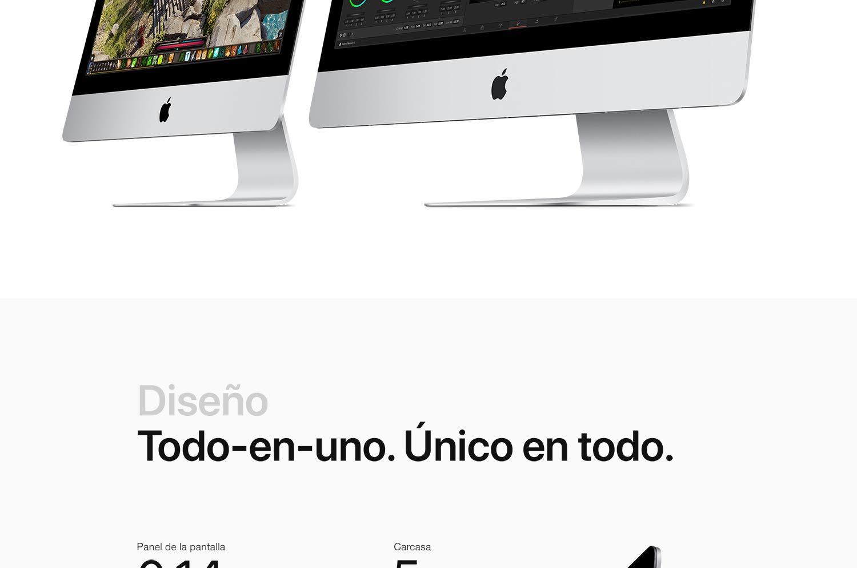 Nuevo Apple iMac (21.5 pulgadas con pantalla Retina 4K, Intel Core i5 de seis núcleos a 3,0 GHz de octava generación, 1TB)