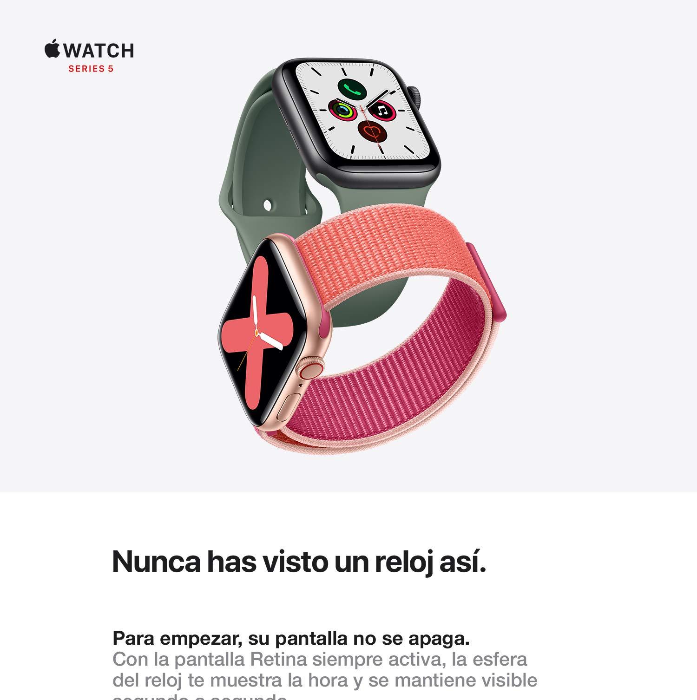 Apple Watch Series 5 (GPS + Cellular, 40 mm) Aluminio en ...