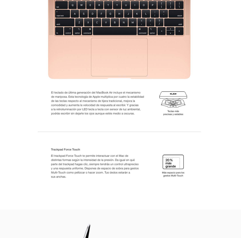 Nuevo Apple MacBook Air (de 13 pulgadas, Intel Core i5 de doble núcleo a 1,6 GHz, 8GB RAM, 128GB) - Gris espacial