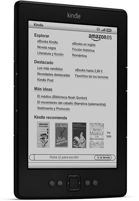 Kindle, e-reader con wifi integrado y pantalla de E Ink de 6