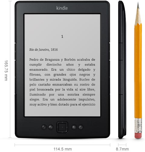 Kindle, e-reader con wifi integrado y pantalla de E Ink de 6